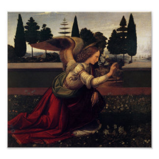 Leonardo DaVinci Annunciation Angel print