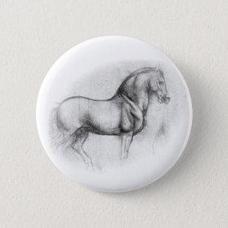 Leonardo DaVinci Horse button