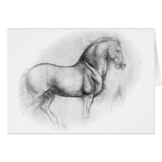 Leonardo DaVinci Horse card