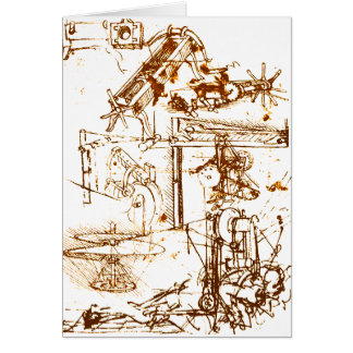 Leonardo DaVinci sketched greeting cards
