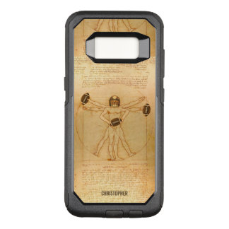Leonardo Vitruvian Man As American Football Player OtterBox Commuter Samsung Galaxy S8 Case