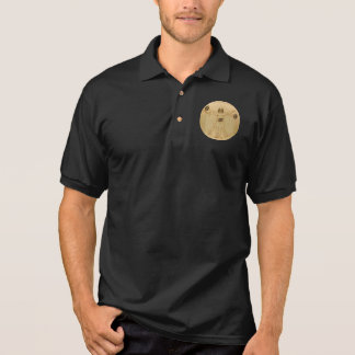 Leonardo Vitruvian Man As American Football Player Polo Shirt