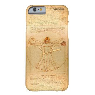 Leonardo Vitruvian Man As Baseball Player Barely There iPhone 6 Case