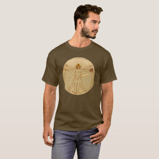 Leonardo Vitruvian Man As Baseball Player T-Shirt
