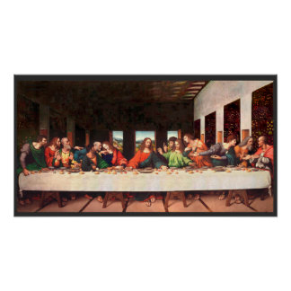 Leonardo's Last Supper painting recreated Poster