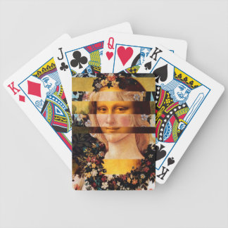 Leonardo's Mona Lisa & Botticelli's Flora Bicycle Playing Cards