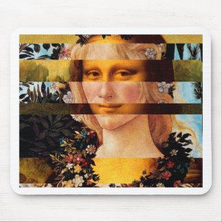 Leonardo's Mona Lisa & Botticelli's Flora Mouse Pad