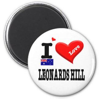 LEONARDS HILL - I Love Magnet
