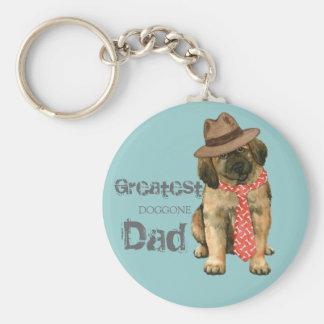 Leonberger Dad Keychain