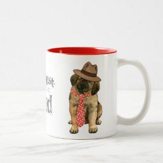 Leonberger Dad Two-Tone Coffee Mug