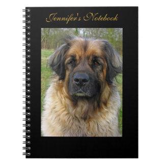 Leonberger dog beautiful photo, custom name notebook