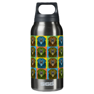 Leonberger Dog Cartoon Pop-Art Insulated Water Bottle