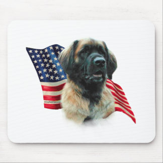 Leonberger Flag Mouse Pad