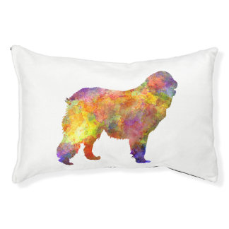 Leonberger in watercolor pet bed