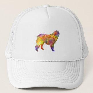 Leonberger in watercolor trucker hat