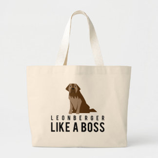 Leonberger, Like a Boss Jumbo Tote Bag