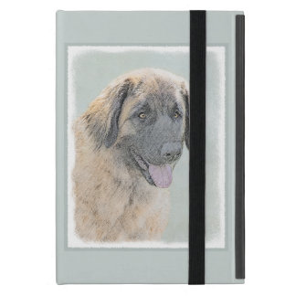Leonberger Painting - Cute Original Dog Art Cover For iPad Mini