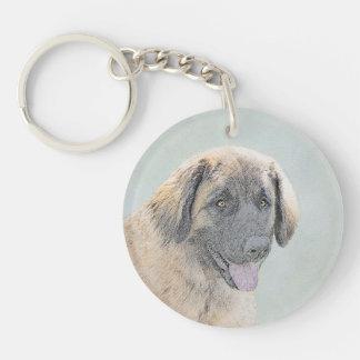 Leonberger Painting - Cute Original Dog Art Keychain
