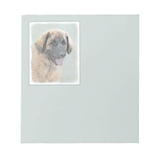 Leonberger Painting - Cute Original Dog Art Notepad