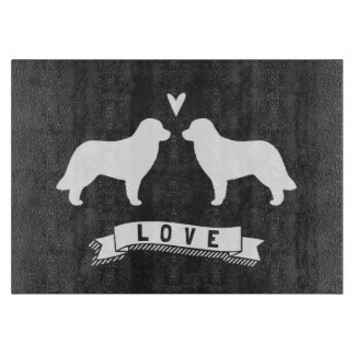 Leonberger Silhouettes Love Cutting Board