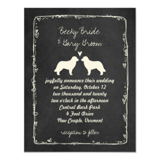 Leonberger Silhouettes Wedding Announcement
