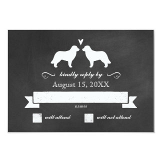 Leonberger Silhouettes Wedding Reply RSVP Card
