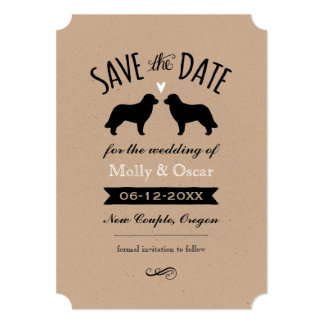 Leonberger Silhouettes Wedding Save the Date Card