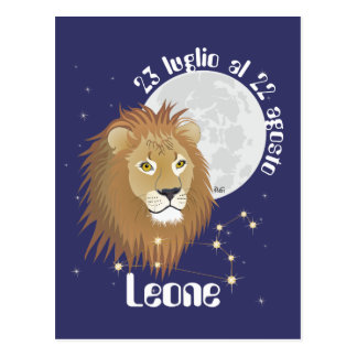 Leone 23 peeping Lio Al 22 agosto Cartolina Postcard