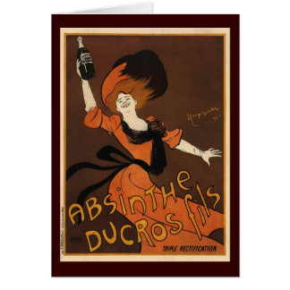 Leonetto Cappiello Absinthe Ducros Fils Greeting Card