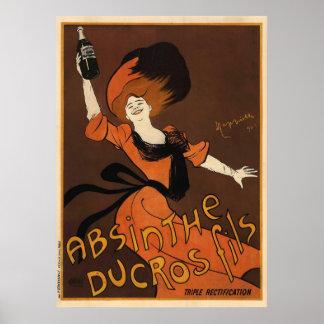 Leonetto Cappiello Absinthe Ducros Fils Poster