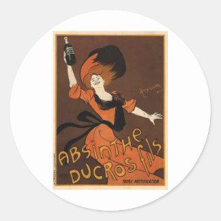 Leonetto Cappiello Absinthe Ducros Fils Classic Round Sticker
