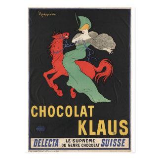 Leonetto Cappiello : Chocolat Klaus 1903 Postcard