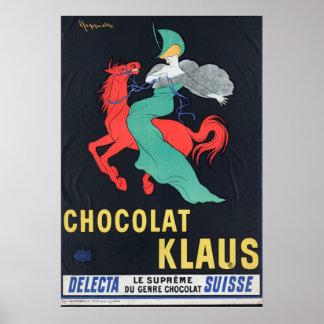 Leonetto Cappiello Chocolat Klaus 1903 Vintage Poster