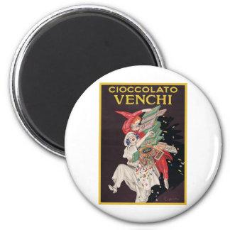 Leonetto Cappiello Cioccolato Venchi 2 Inch Round Magnet