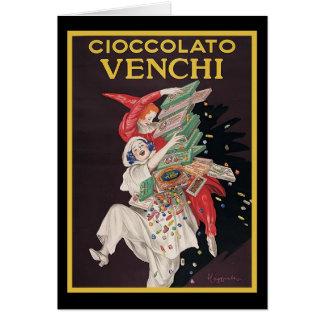 Leonetto Cappiello Cioccolato Venchi Greeting Card