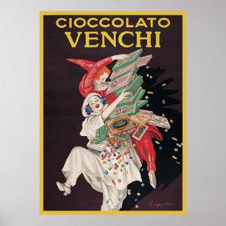 Leonetto Cappiello Cioccolato Venchi Poster
