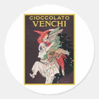 Leonetto Cappiello Cioccolato Venchi Round Sticker