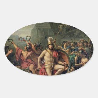 Leonidas at Thermopylae Oval Sticker