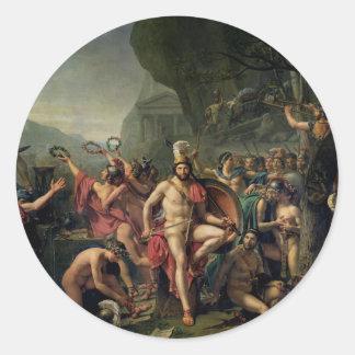 Leonidas at Thermopylae Round Sticker