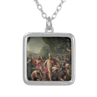 Leonidas at Thermopylae Silver Plated Necklace