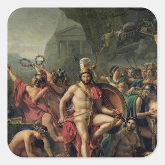 Leonidas at Thermopylae Square Sticker