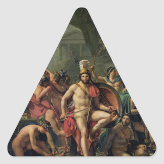 Leonidas at Thermopylae Triangle Sticker