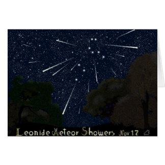 Leonide Meteor Shower Card