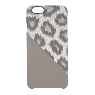 Leopard2 - Cacao- iPhone 6/6s Clearly™ deflector Clear iPhone 6/6S Case