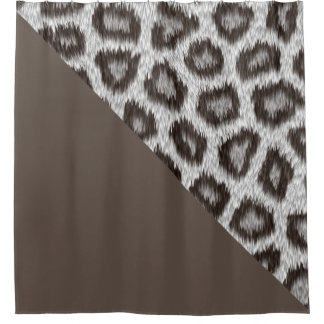 Leopard2 - Cacao- shower curtain