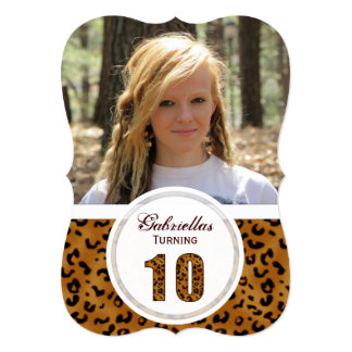 Leopard 10th Birthday: Picture:Party Invitation