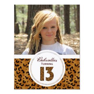 Leopard 13th Birthday: Picture:Party Invitation