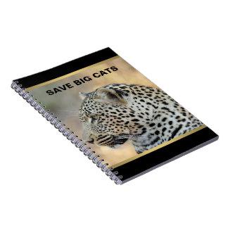 Leopard 1 spiral note books