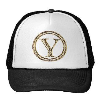 leopard alphabet Y Trucker Hat