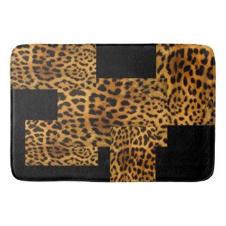 Leopard and Black Bath Mat